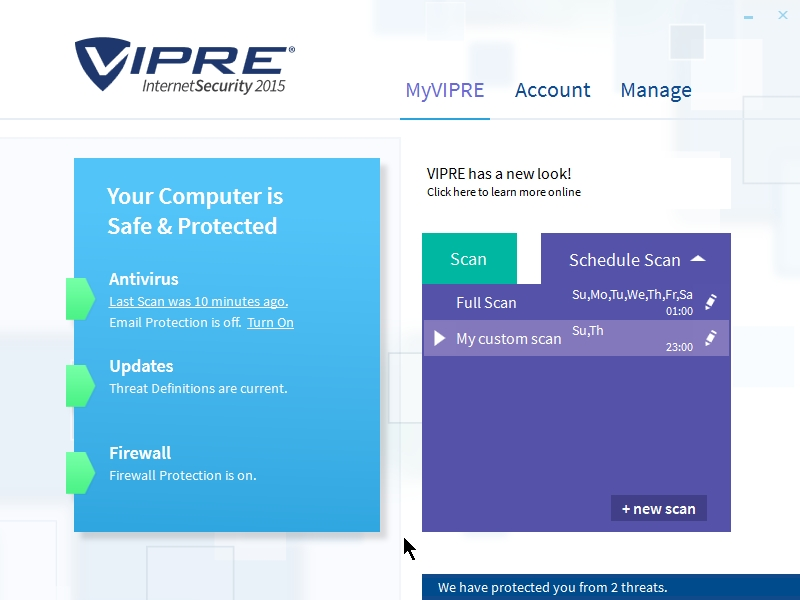 VIPRE INTERNET SECURITY 2015 INTERFACE_08102014_235921
