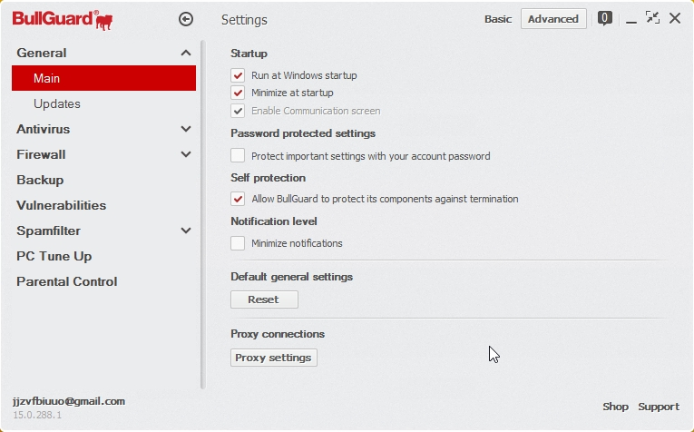 BULLGUARD INTERNET SECURITY 2015 SETTINGS_05112014_200827