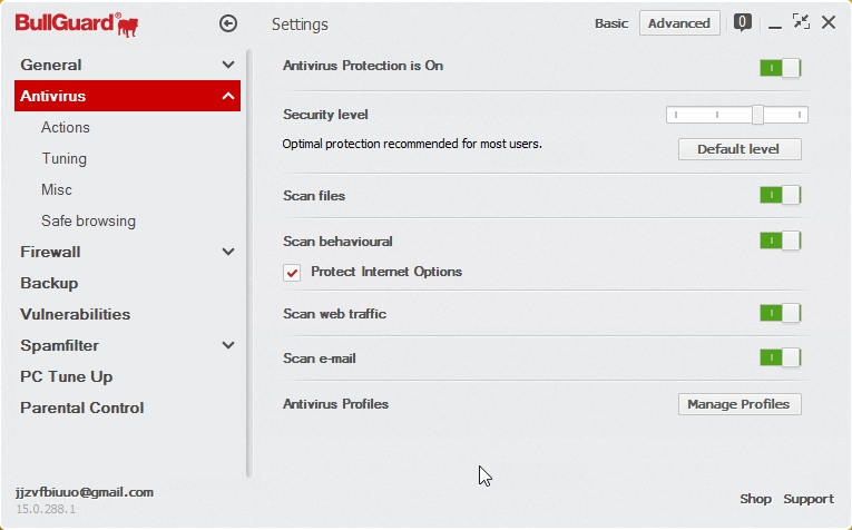 BULLGUARD INTERNET SECURITY 2015 SETTINGS_05112014_200836