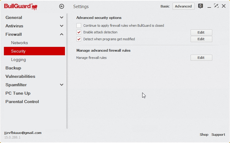 BULLGUARD INTERNET SECURITY 2015 SETTINGS_05112014_200915