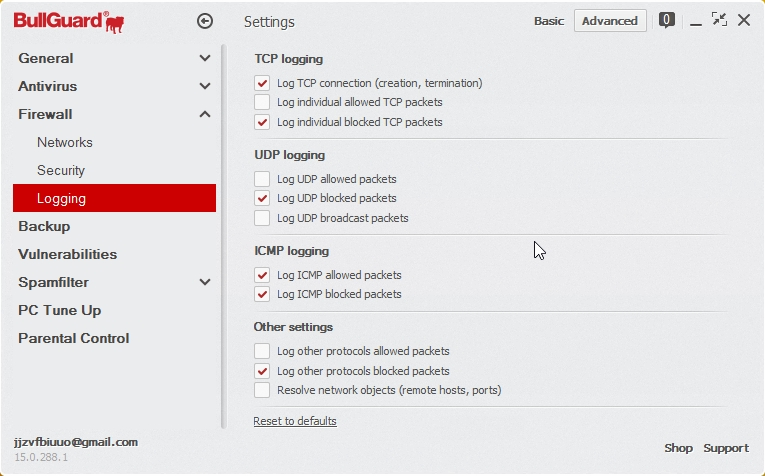 BULLGUARD INTERNET SECURITY 2015 SETTINGS_05112014_200918