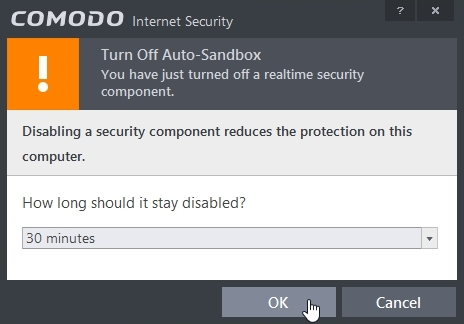 COMODO INTERNET SECURITY 8.2 ENABLE DISABLE AUTOSANDBOXING_07-04-2015_20-53-00