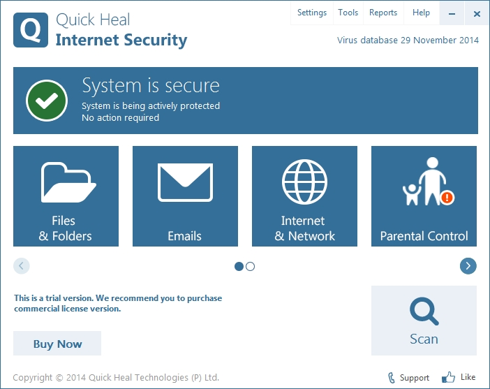 QUICK HEAL INTERNET SECURITY 16 INTERFACE_30-11-2014_15-59-31