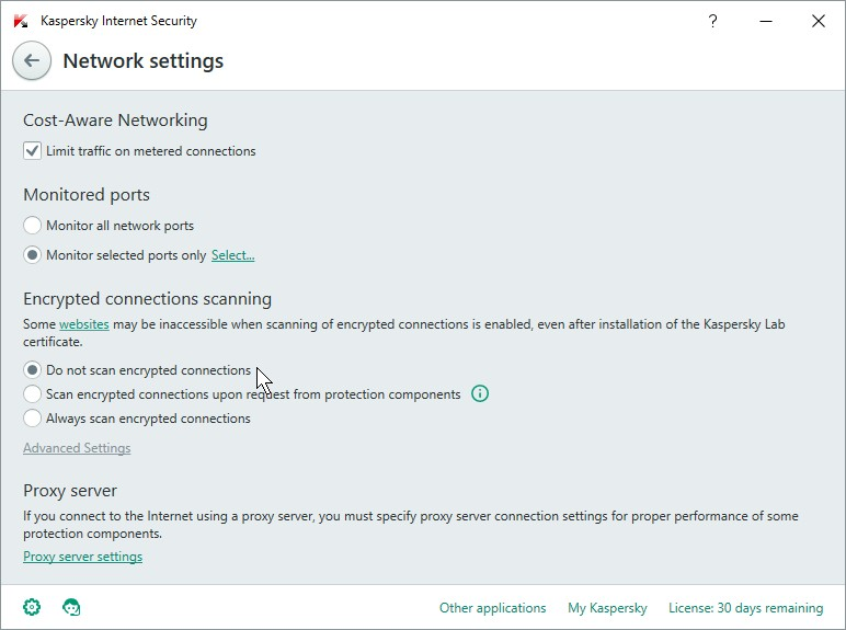 KASPERSKY INTERNET SECUIRTY 16 SETTINGS_06012016_135145