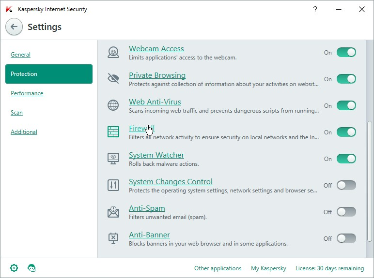KASPERSKY INTERNET SECUIRTY 16 SETTINGS_06012016_135339