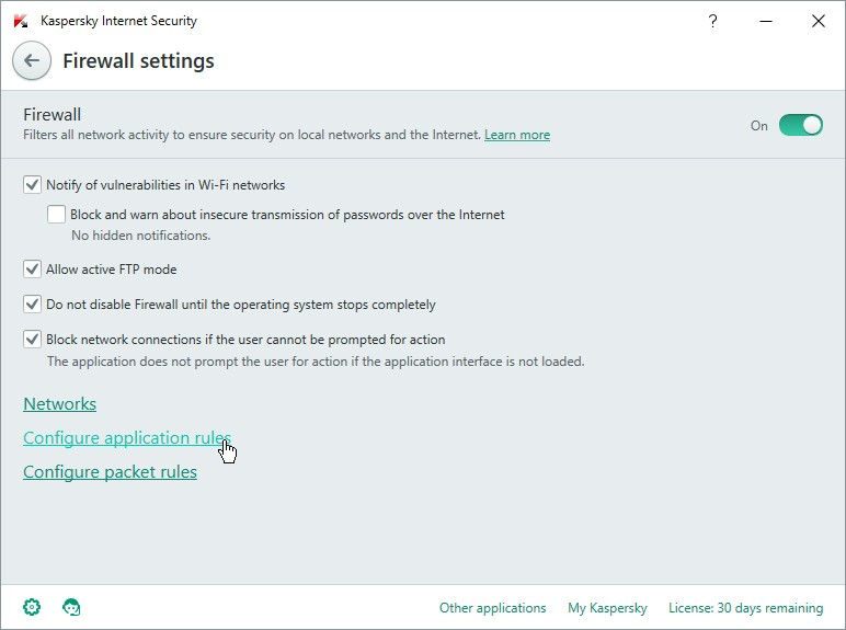 KASPERSKY INTERNET SECUIRTY 16 SETTINGS_06012016_135402
