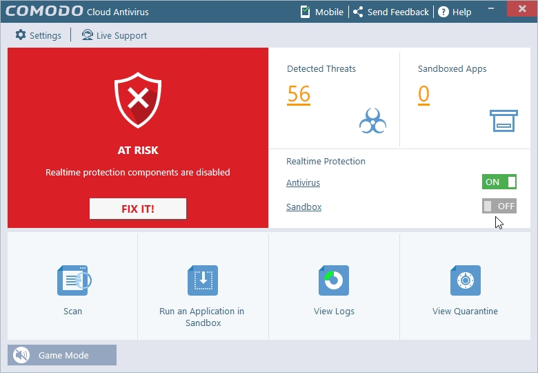 COMODO CLOUD ANTIVIRUS AUTOSANDBOXING_30042016_213358