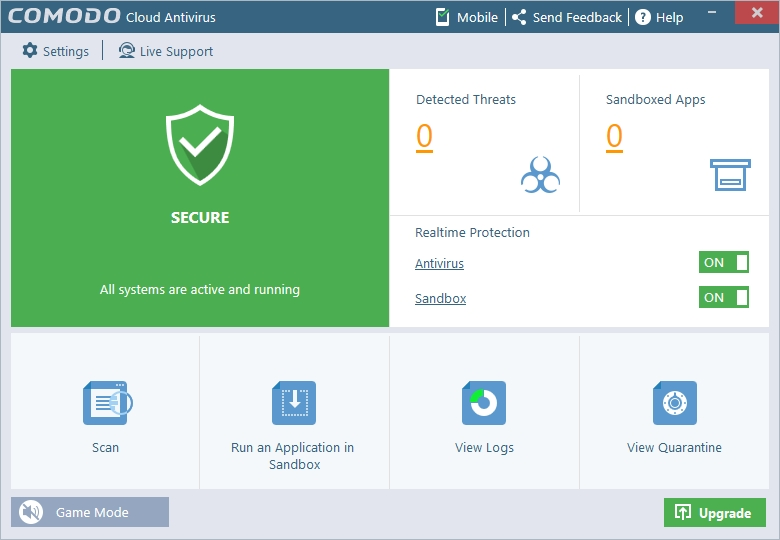 COMODO CLOUD ANTIVIRUS INTERFACE_30042016_131015