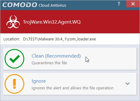COMODO CLOUD ANTIVIRUS MALWARE DETECTION_30042016_214246