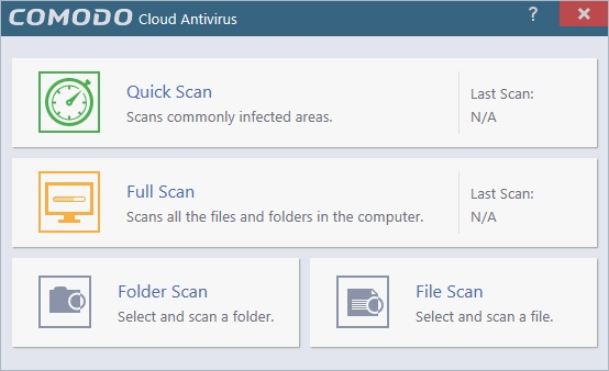 COMODO CLOUD ANTIVIRUS MANUAL SCAN_30042016_131054
