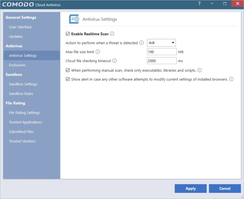 COMODO CLOUD ANTIVIRUS SETTINGS_30042016_203154