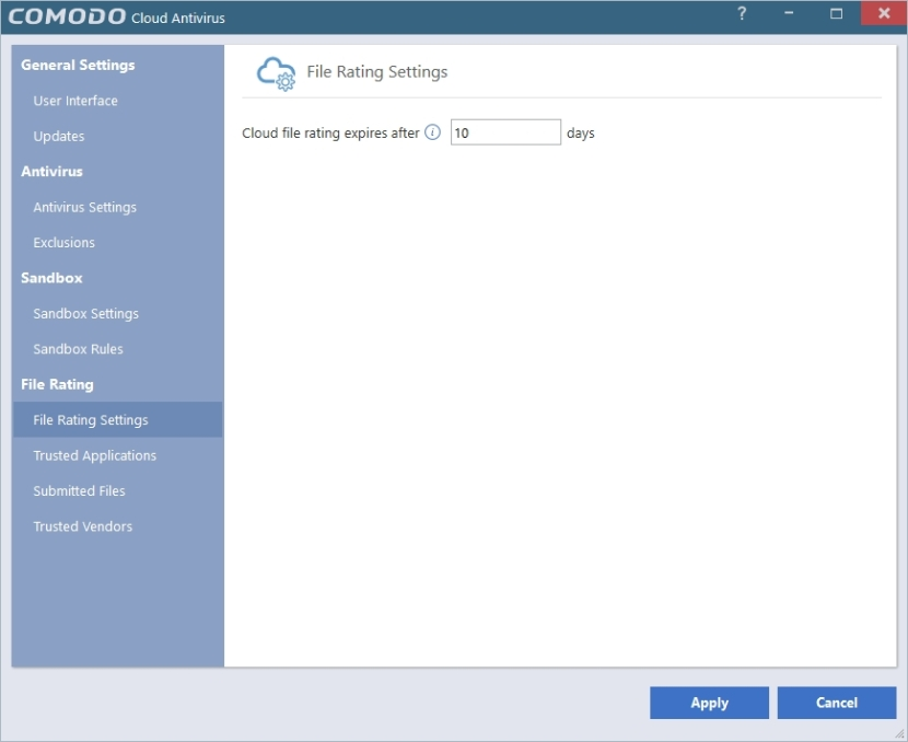 COMODO CLOUD ANTIVIRUS SETTINGS_30042016_203224