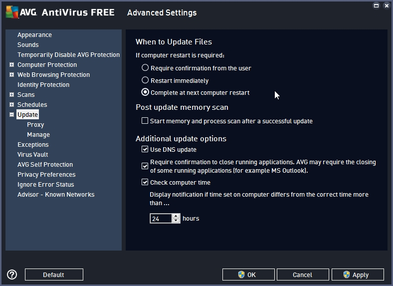 AVG FREE ANTIVIRUS 2016 RECOMMENDED SETTINGS_17-06-2016_20-22-07