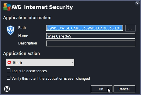 AVG INTERNET SECURITY 2016 BLOCK INTERNET ACCESS TO AN APPLICATION_18-06-2016_20-26-42