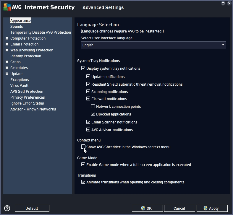 AVG INTERNET SECURITY 2016 RECOMMENDED SETTINGS_18-06-2016_19-28-29