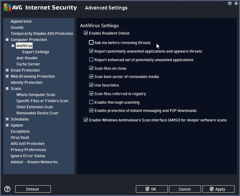 AVG INTERNET SECURITY 2016 RECOMMENDED SETTINGS_18-06-2016_19-33-12