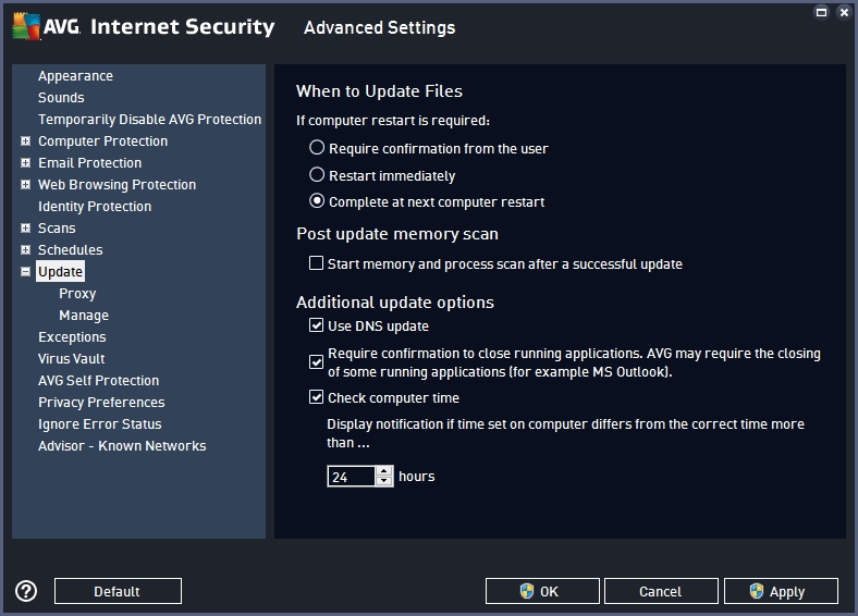 AVG INTERNET SECURITY 2016 RECOMMENDED SETTINGS_18-06-2016_19-35-02