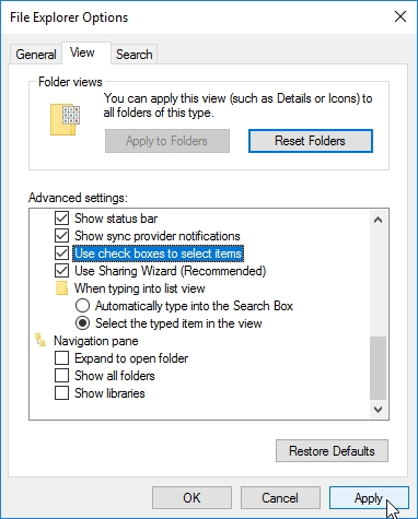 WINDOWS 10 1607 RECOMMENDED SETTINGS CONTROL PANEL_04082016_071914