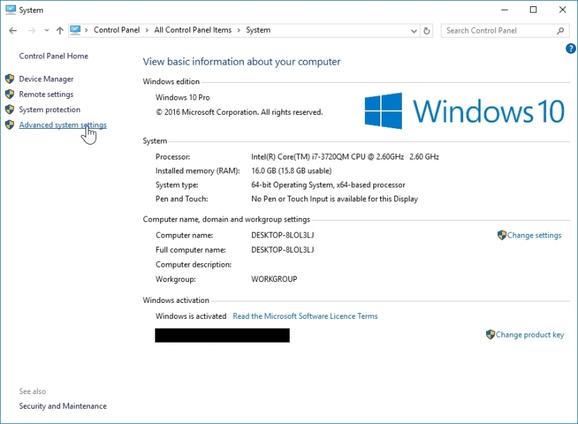 WINDOWS 10 1607 RECOMMENDED SETTINGS CONTROL PANEL_04082016_075422