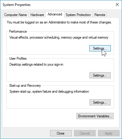 WINDOWS 10 1607 RECOMMENDED SETTINGS CONTROL PANEL_04082016_075518