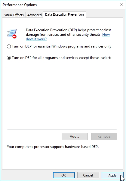 WINDOWS 10 1607 RECOMMENDED SETTINGS CONTROL PANEL_04082016_075525