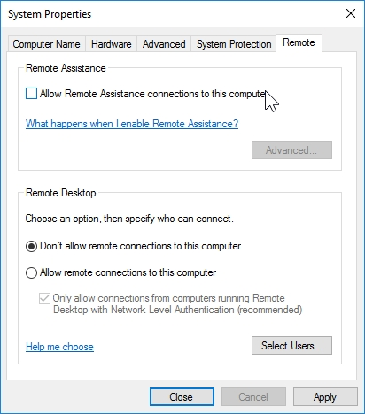 WINDOWS 10 1607 RECOMMENDED SETTINGS CONTROL PANEL_04082016_075617