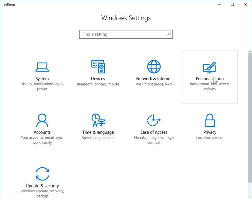 WINDOWS 10 1607 RECOMMENDED SETTINGS PC SETTINGS _04082016_080820