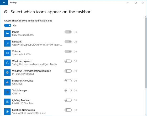 WINDOWS 10 1607 RECOMMENDED SETTINGS PC SETTINGS _04082016_080958