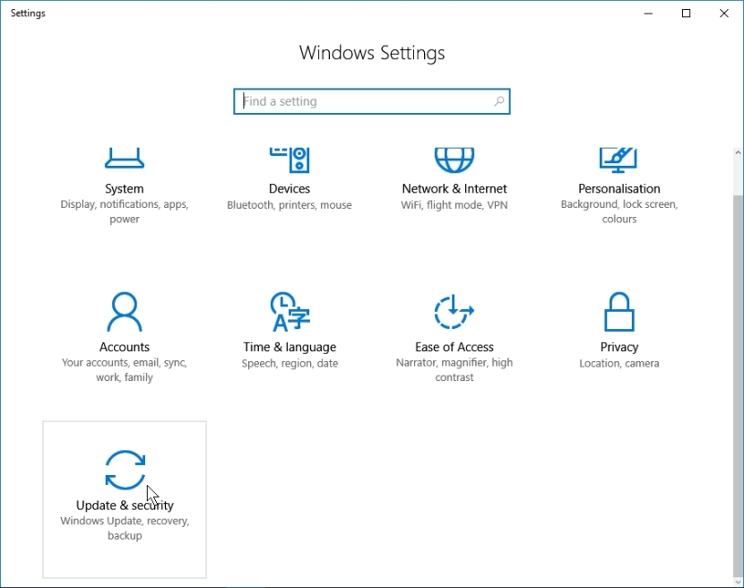 WINDOWS 10 1607 RECOMMENDED SETTINGS PC SETTINGS _04082016_081127
