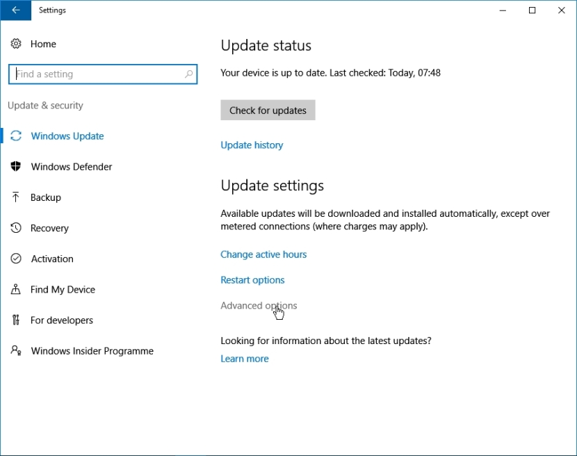 WINDOWS 10 1607 RECOMMENDED SETTINGS PC SETTINGS _04082016_081200