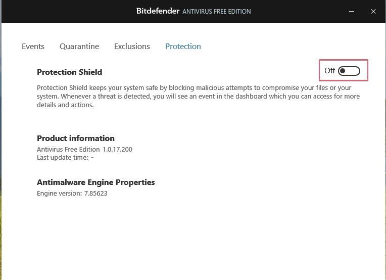Bitdefender Free Antivirus disable protection_27092020_024218 - Copy