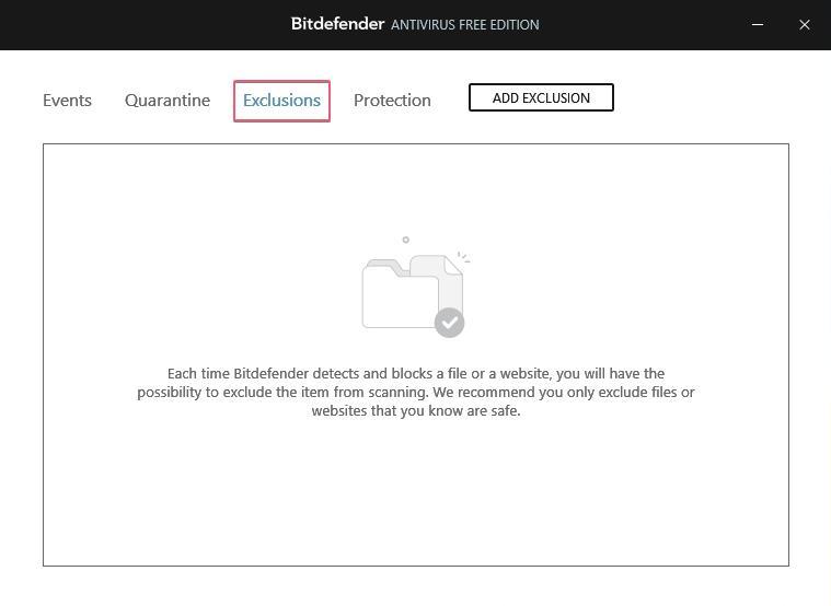 Bitdefender Free Antivirus Exclusion_27092020_030639