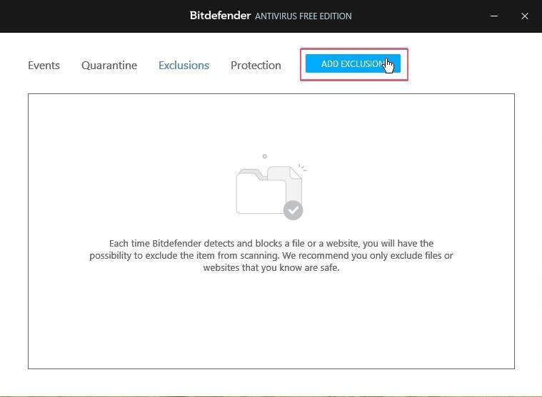 Bitdefender Free Antivirus Exclusion_27092020_030644