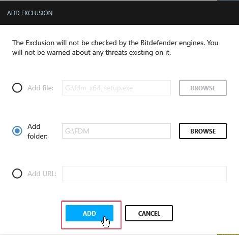 Bitdefender Free Antivirus Exclusion_27092020_030723