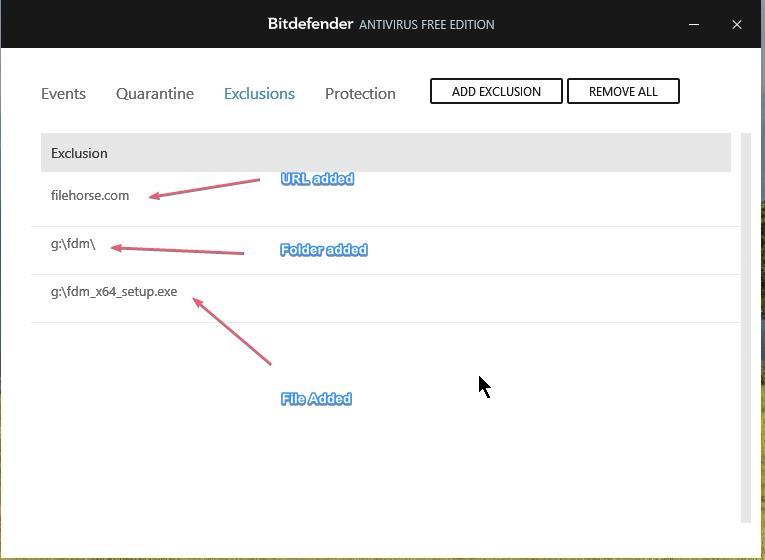 Bitdefender Free Antivirus Exclusion_27092020_030904