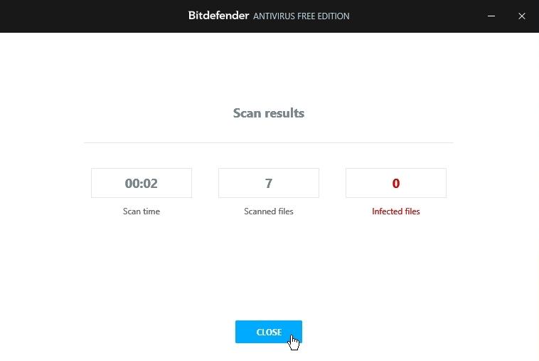 Bitdefender Free Antivirus Malware scan_27092020_030121
