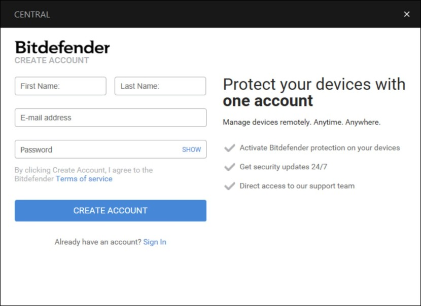 bitdefender free unable to connect to server